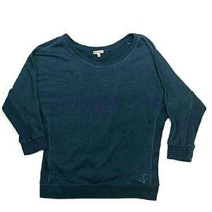 Juicy Couture Sweatshirt M Navy Blue Corset
